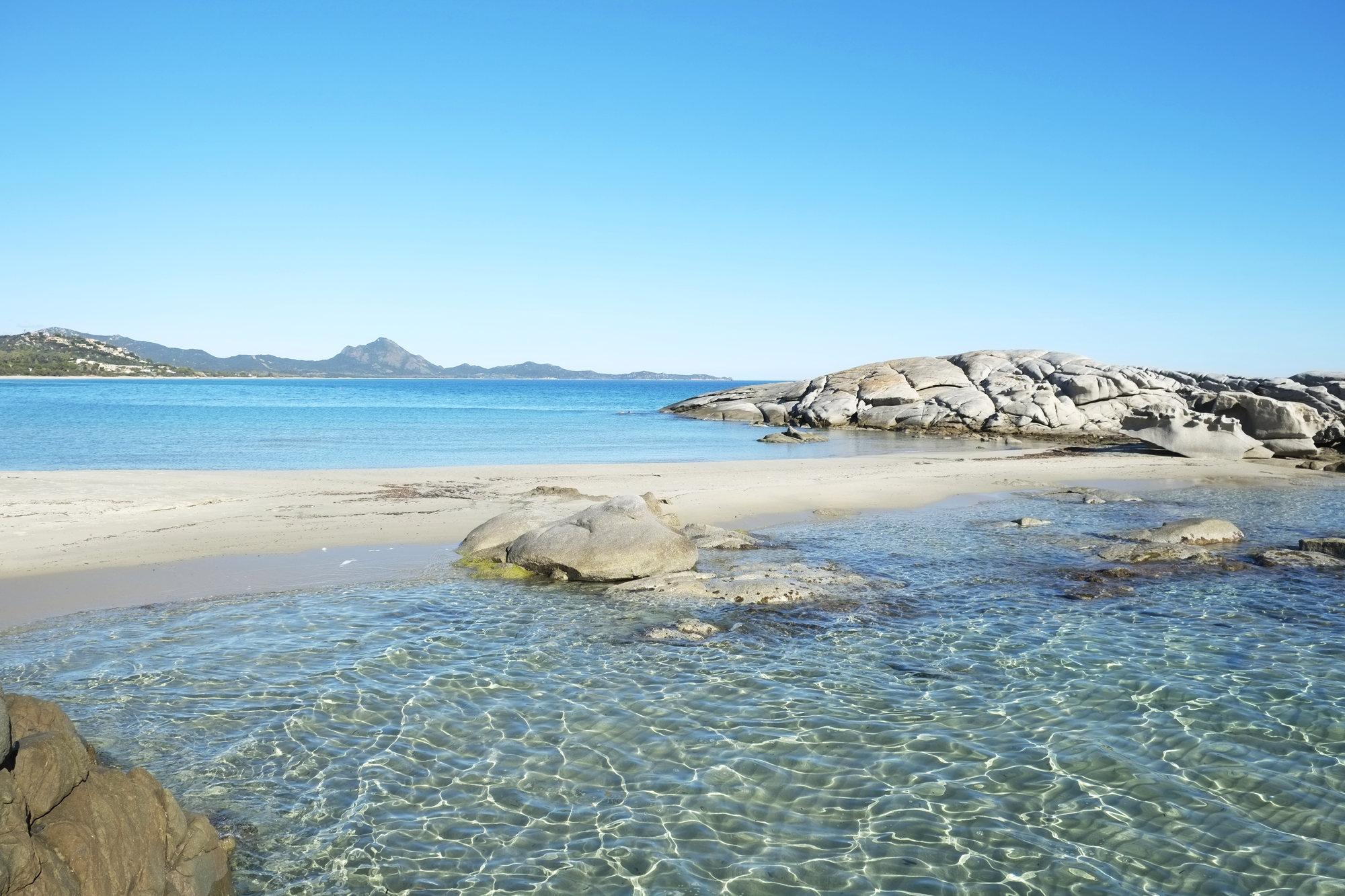 De mooie stranden van zuid Sardinië